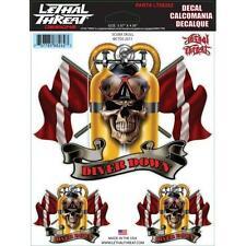 Lethal Threat Pegatinas coche Moto Harley Sticker cráneo buceo - Scuba Skull