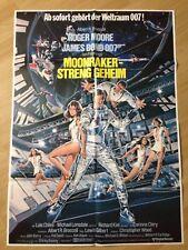 Filmposter * Kinoplakat *A1 * James Bond 007 - Moonraker - Streng geheim *EA1979