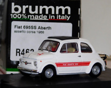 Fiat Abarth 695SS Assetto Corsa 1968 Bianco 1/43 R463 Brumm Made in Italy