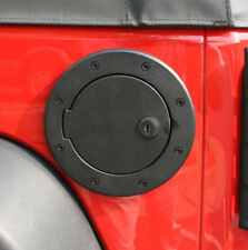 Black Gas Cover with Lock Fits: Jeep Wrangler JK 2007- 18 11425.06 Rugged Ridge