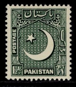 PAKISTAN QEII SG45a, 1½a grey-green, NH MINT.
