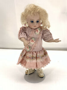 """10"""" Seeley Body French Child Reproduction Doll w/ Pink Dress Shoes Blue Eyes"""