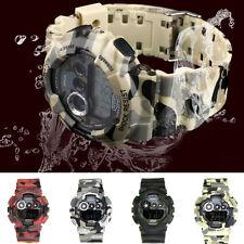 Men's LED Digital Military Army Date Analog Quartz Camouflage Sport Wrist Watch