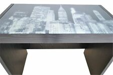 Modern Home Office Desk Computer PC Table Workstation NEW YORK PICTURE Glass