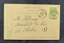 1908 Signeulx  Belgium Postal Statioanry Domestic Postcard Cover to Arlon