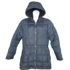LL Bean DownTek Quilted Packable Hooded Puffer Jacket Womens XS Petite Navy Blue