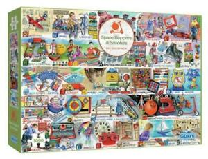 Gibsons Space Hoppers and Scooters 1000 Piece Jigsaw Puzzle