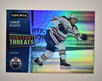 2020-21 UD Synergy Constant Threats #CT-3 Connor McDavid - Edmonton Oilers