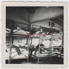 (F3266) Orig. Foto Unterkunft, Arbeitsdienstlager, Doppelstockbetten, vor 1945