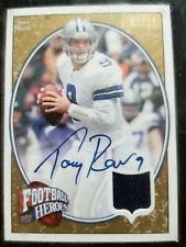 Tony Romo 2008-09 Upperdeck Football Heroes Autograph Jersey 7/15 and 1/1 plate