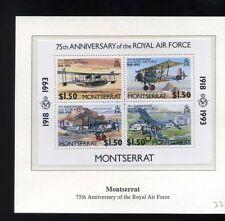 1993 75th Anniversary of the RAF unmounted mint set montserrat mini sheet