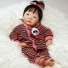 Paradise Galleries Panda Twin Girl Newborn Realistic Handmade  Reborn Baby Doll