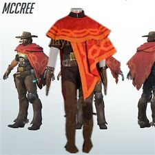 OW Overwatch Jesse Mccree cosplay costume whole set with accessories customized