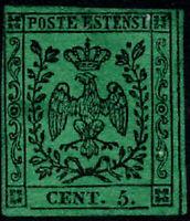 MODENA - SASS1 - 5c - 1852 - VERDE - VF, UN