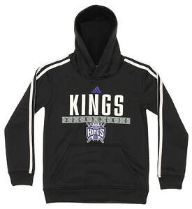 Adidas NBA Youth Boys Sacramento Kings Playbook Pullover Hoodie, Black