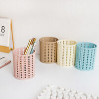 Hollow Cosmetic Metal Pen Pencil Pot Holder Stationery Container Organizer