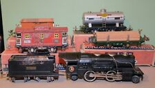 Lionel Prewar 259E 4-Car Steam Freight Set with Boxes