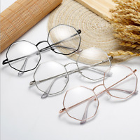 Unisex Retro Clear Lens Eyeglass Frames Designer Octagonal Polygon Glasses New