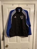 Mens Retro Vintage Addias Tracksuit Jacket Medium Sports Team