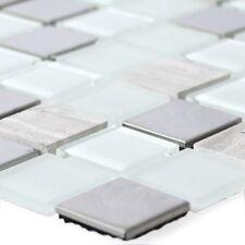 MUSTER Selbstklebende Metall Stein Glas Mosaik Fliesen Weiss