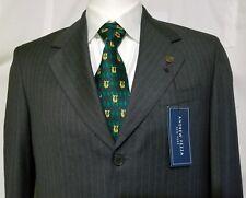 ANDREW FEZZA New Suit Jacket 38R SUPER 100'S WOOL Gray Pinstripe Men's Blazer