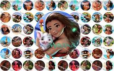"60 Precut 1"" Moana Bottle cap Images Set 1"