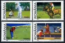 2002 Baseball,Golf,Polo,Cricket,Stick Sports,Romania,Mi.5666,MNH