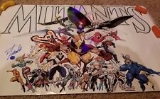 "SIGNED By STAN LEE MUTANTS X-MEN #63 1989 22""x34"" Poster statue WOLVERINE Statue"