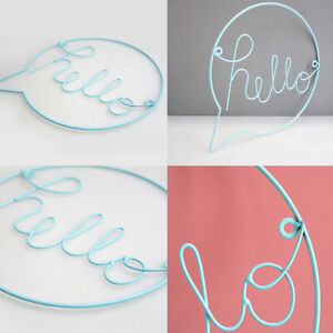 """Iron English Letters /""""Hello/"""" Home Cafe Wall Hanging Decoration Welcome Sign New"""