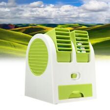 Acondicionador De Aire Portátil Mini Cool Fan recargable USB Libre Coche Verde