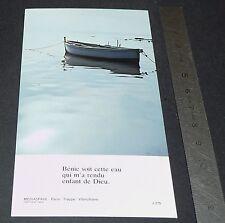 CHROMO 1980-1990 IMAGE PIEUSE CATHOLICISME HOLY CARD BAPTEME EAU BATEAU RELIGION