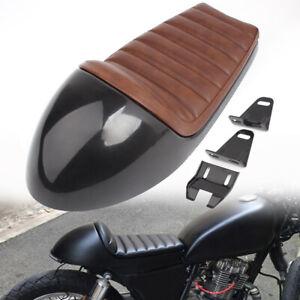 Universal Brown Cafe Racer Hump Saddle Vintage Seat Cushion Pad For Honda Suzuki