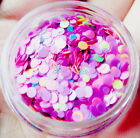 NEO MATTE Solvent Resistant Round 3D Nail Art Glitter Tips 1mm 2mm Mixed Purple