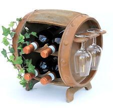 Botellero para Vino Madera Recipiente Marrón 33Cm 2110 Barril de Vintage Barra
