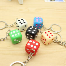 Fashion Cute Women Girl Colorful Dice Shaped Key Chain Key Ring Gift Pendant