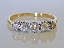 Beautiful Victorian 18ct Gold 0.50ct Diamond Ring Size P 1/2
