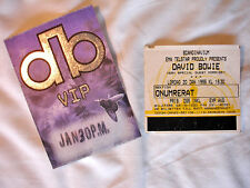 DAVID BOWIE Ticket+Backstage Pass 20 January 1996 Sweden Morrissey Support WORLD