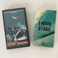 Surfing VHS Video Tapes Lot Of 2 Vintage 90s Loose Change Liquid Stage