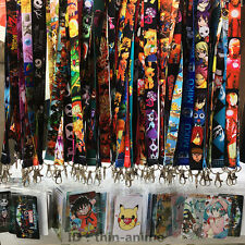 Multi Anime neck strap Lanyard ID Card badge holder Neck key Chains + Card Gift