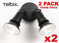TRADE PRICE 2 x  TELBIX COMET 20w LED OUTDOOR TWIN SPOT FLOOD LIGHT ADJUSTABLE