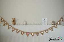 Hessian Bunting Always Together Rustic Heart Burlap Banner Wedding Photo Bride