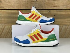 """Youth Adidas Ultraboost DNA """"Lego Colors"""" Size-6Y White Red Blue Green (GV7732)"""