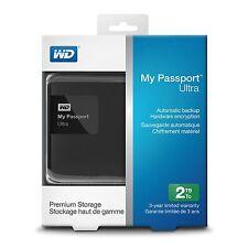 WD 2TB Black My Passport Ultra Portable External Hard Drive WDBBKD0020BBK-NESN