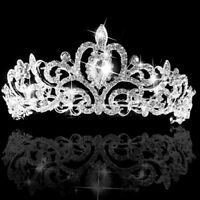 HN- Luxury Bridal Princess Rhinestone Crystal Hair Tiara Wedding Crown Headband
