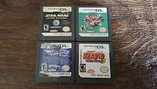 Star Wars/Naruto 4 Game Lot AUTHENTIC Nintendo DS Tested & Working 3DS/2DS