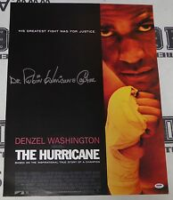 Dr. Rubin Carter Signed 18x24 The Hurricane Movie Poster PSA/DNA COA Autograph