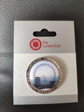 THE LONDON EYE Pin Badge Merlin BRAND NEW - EYE DAYLIGHT PHOTO BACKGROUND