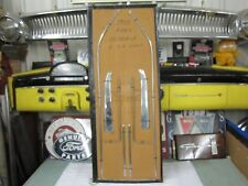 1955 Ford Victoria 2 Dr Hardtop Interrior Door & Rear Seat Stainless 8 Pc Set