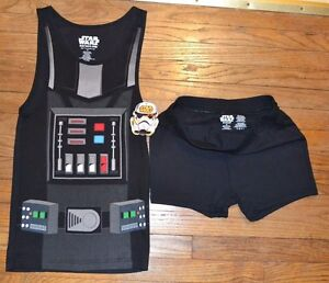 Star Wars 2 Piece Young Mens Sleepwear Set Tank Top & Shorts Darth Vader or R2D2