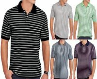 Men's Short Sleeve Striped Pique Polo